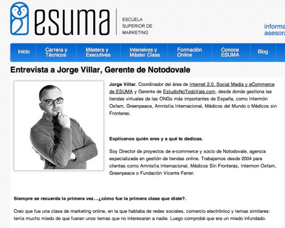 Entrevista Jorge Villar e-commerce